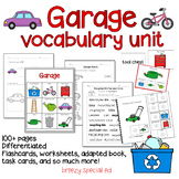 Garage Vocabulary Unit (Special Education and Autism Resource)
