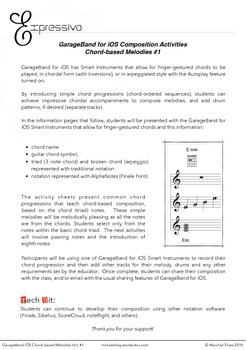 GarageBand for iOS Composition Activities - Chord Based Melodies #1