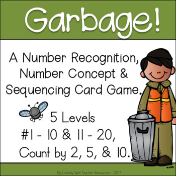 Garbage! A Differentiated Number Sense & Sequencing Game - 1-20, by 2, 5, 10