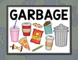 Garbage Can or Bin - Classroom Label - Poster - Sign