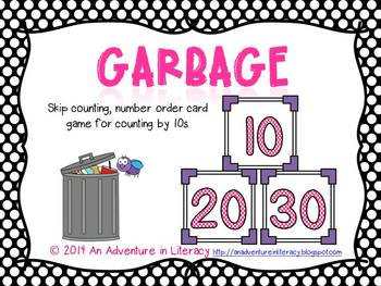 Garbage Skip Counting by 10s Card Game