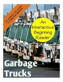 Garbage Trucks Interactive Beginning Reader Book Vehicles Special Education