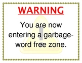Garbage Word Classroom Signs