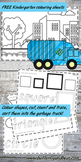 Garbage truck shape learning printables Kindergarten