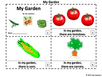 My Garden 2 Emergent Reader Booklets - ENGLISH