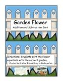 Garden Flower Addition and Subtraction Sort