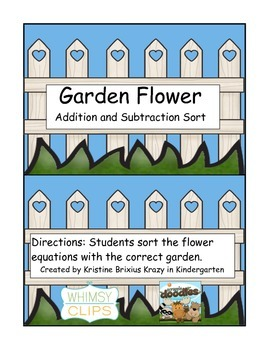 Garden Flower Addition and Subtraction Sort