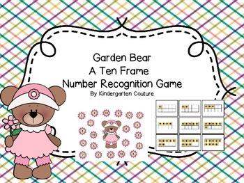 Garden Bear - A Ten Frame Number Recognition Game