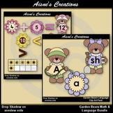 Spring Garden Bears Math & Language Clip Art Bundle