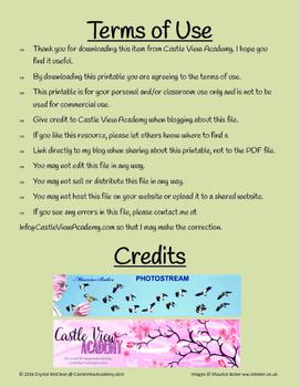 Garden Birds 3 Part Cards