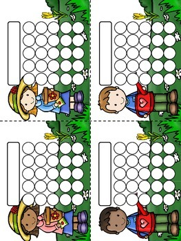 Garden Buddies Sticker Incentive Charts - Full Color and Less-Ink Options