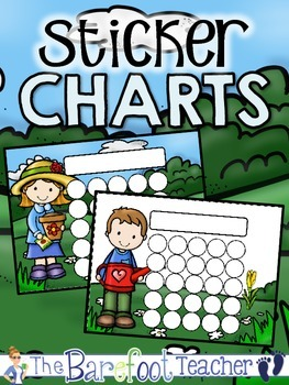 Garden Buddies Sticker Incentive Charts - Full Color and L