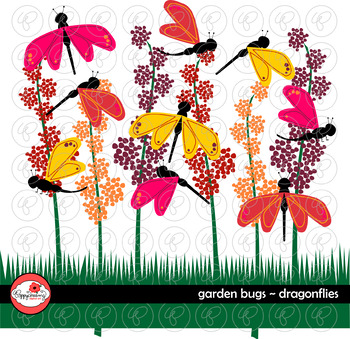 Garden Bug Dragonflies by Poppydreamz