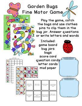 Garden Bug Fine Motor Game