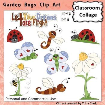 Garden Bugs Clip Art - Color - personal & commercial use