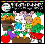 Garden Bunnies Clipart