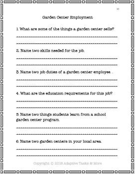 Garden Center Employment
