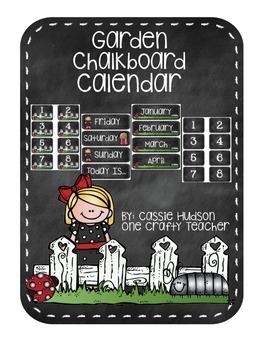 Garden Chalkboard Calendar