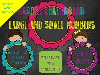 Garden Chalkboard- Large and Small Numbers