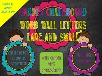 Garden Chalkboard- Word Wall Letters