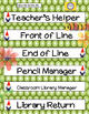 Garden Classroom Jobs and Routines-- Teacher Organization PLUS Management