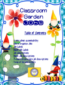 Gnome Garden Jobs and Routines-- Back to School Teacher Management