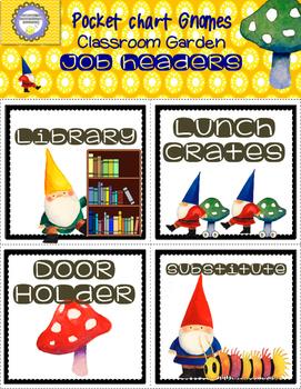 Gnome Garden Decor Classroom Management +Primary Jobs--Back to School!