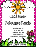 Garden Classroom Reference Cards- Alphabet, Phonics, Numbe