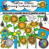 Garden Clip Art- How to Grow Sunflowers by Chalkstar Graphics