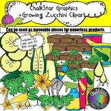 Garden Clip Art- How to Grow Zucchini and Yellow Squash by Chalkstar Graphics