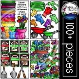 Flower Clipart | Planting Garden Clipart MEGA Set (Spring Clipart)