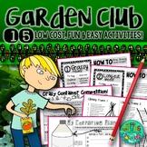 Garden & Nature Club Activities {15 fun, easy, low-cost activities}