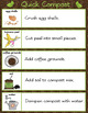 Garden Compost Job Task Visual for Secondary SPED