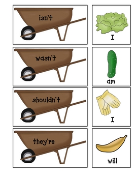 Garden Contraction Matching Game