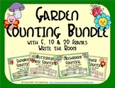 Garden Counting with 5, 10 & 20 Frames Bundle {Subitizing}