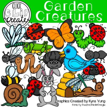 Garden Creatures Clipart