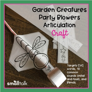 Garden Creatures Party Blowers Articulation Craft