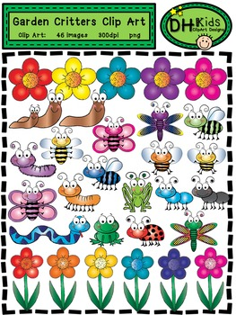 Garden Critters Clip Art - Insect Clip Art