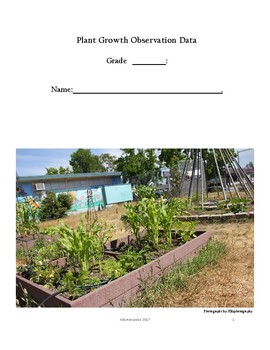 Garden Data Collection Booklet