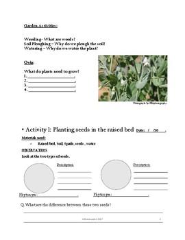 Garden Data Collection Booklet