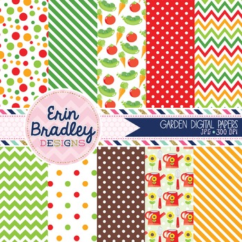 Garden Digital Paper Backgrounds