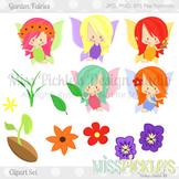 Garden Fairies- Commercial Use Clipart Set