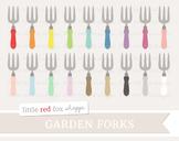 Garden Fork Clipart; Gardening, Tool