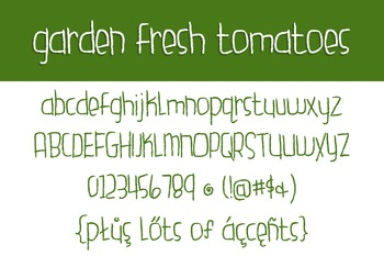 Garden Fresh Tomatoes Font for Commercial Use