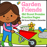 Garden Friends: Girl Scout Promise Practice Pages - Daisies & Brownies