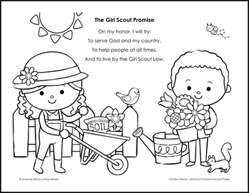 photograph about Girl Scout Promise Printable called Backyard garden Close friends: Female Scout Warranty Educate Internet pages - Daisies Brownies