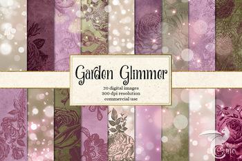Garden Glimmer Digital Paper