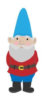Garden Gnome {Bluwren Digital Clipart}