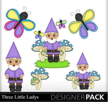 Garden Gnome Boy Pruple