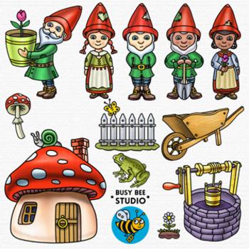 Garden Gnomes Clip Art